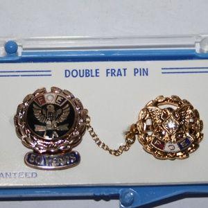 Double Frat Pin FOE 50 years VINTAGE